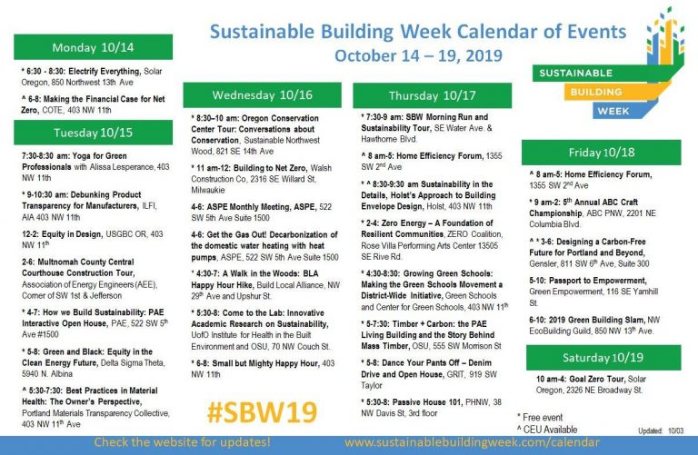 SBW 2019 Has 30 Events For You!